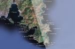 Спутниковая карта района п-ва Гамова (западная часть)